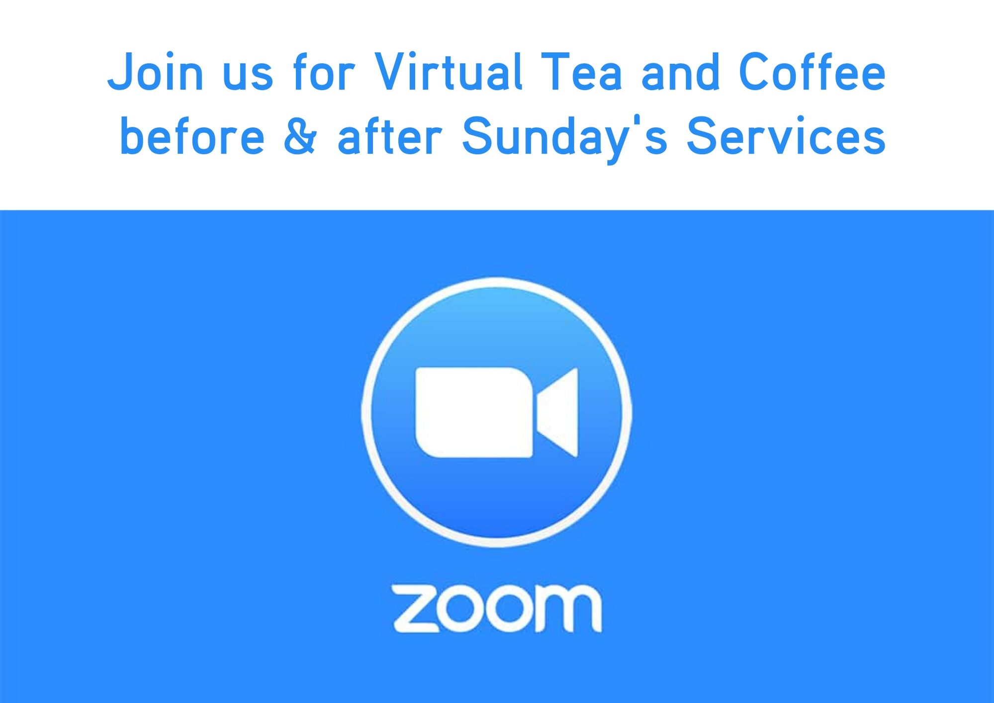 Virtual tea and coffee Zoom